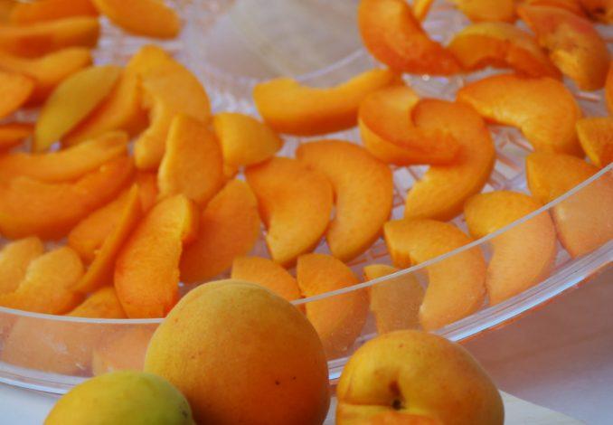 Verse abrikozen, in partjes gesneden